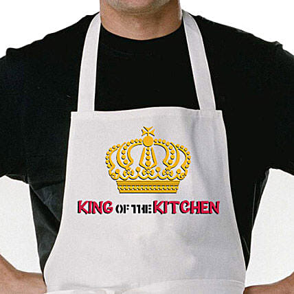 King Of The Kitchen Apron-perfect gift to cheer up a man:Buy Apron