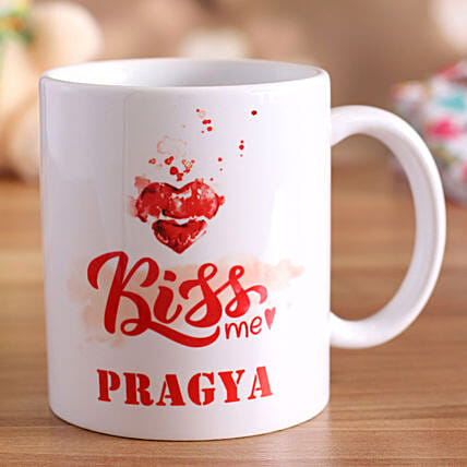 online personalised mug for kiss day