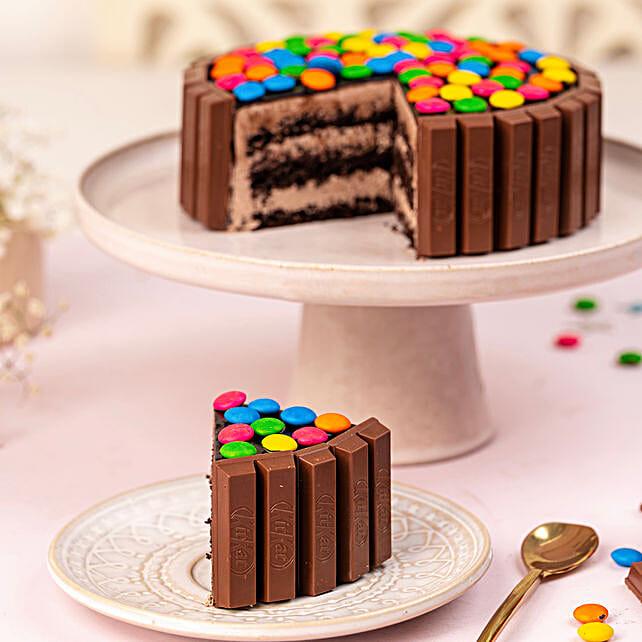 Kit Kat Cake 1kg Eggless
