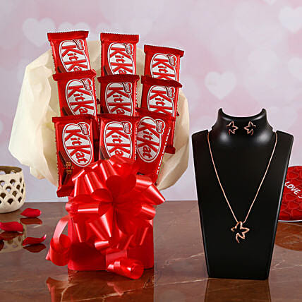 Online Chocolate Bouquet and Jewelry