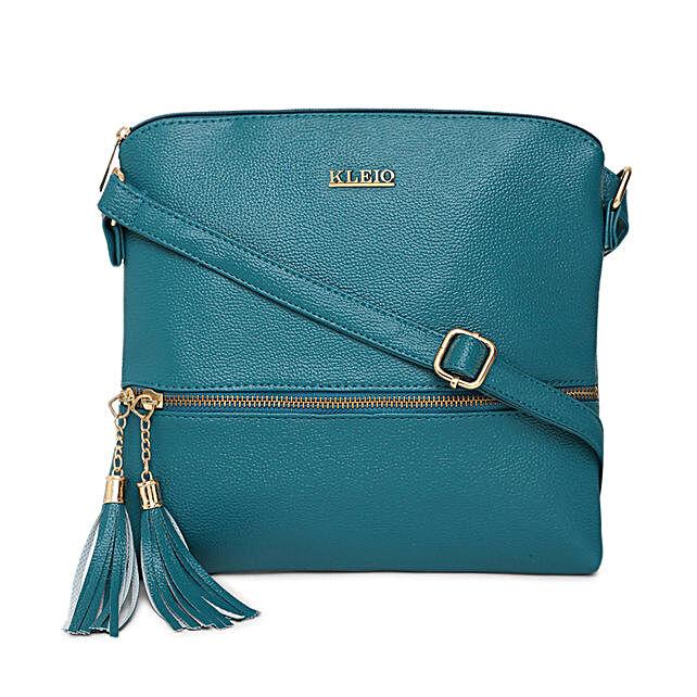 Online KLEIO Stylish Lightweight Tassel PU Leather Cross Body Side Sling Handbag Purse For Women Girls Ladies