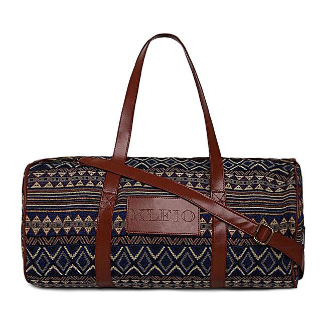 Online KLEIO Unisex Fabric Jacquard Spacious Weekender Travel Gym Duffle Bag For Men Women Girls