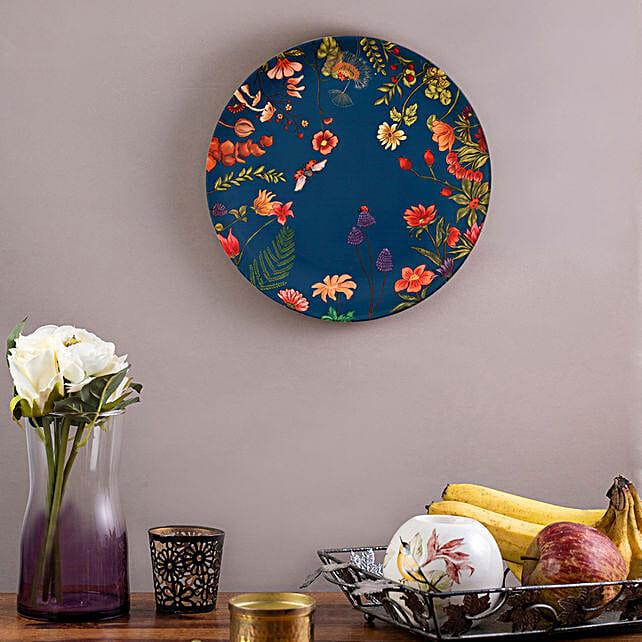 Kolorobia Floral Print Home Decor Wall plate