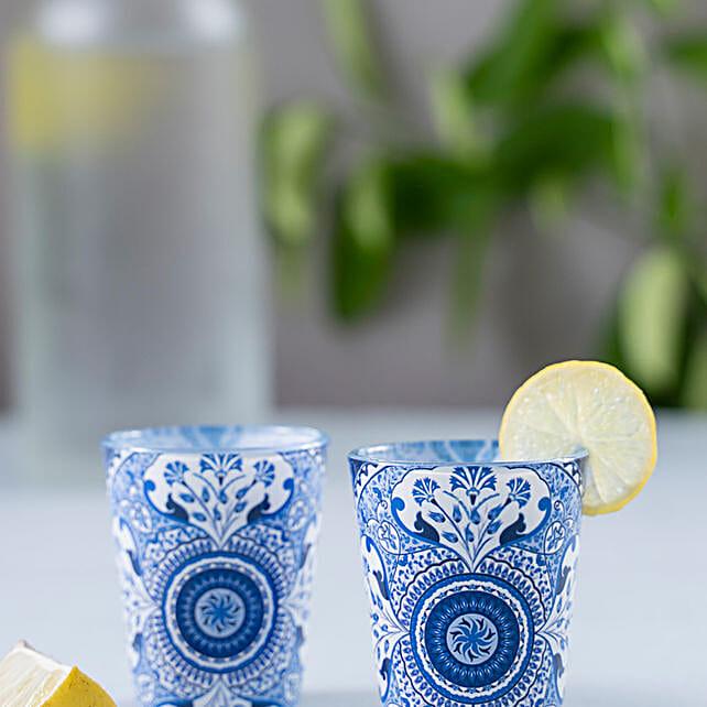 Kolorobia Pristine Turkish Shot Glass Set Of 2:Unique Gift Ideas
