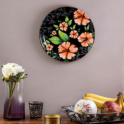 Kolorobia Tropical Hibiscus Home Decor Wall plate