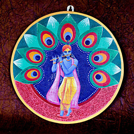Krishna Wall Hanging:Handicrafts