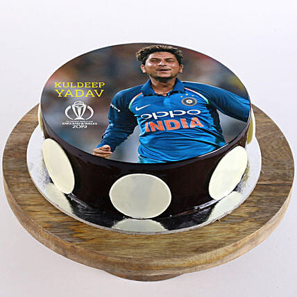 Online photo cake of kuldeep yadav