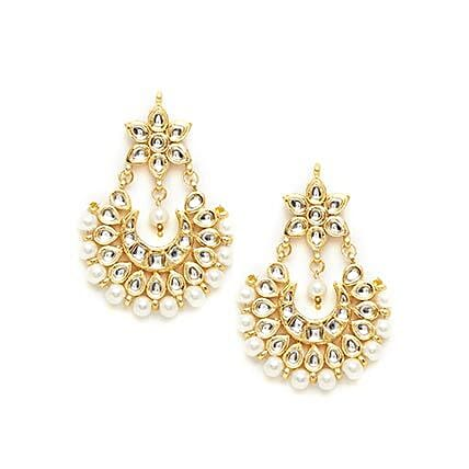 kundan earrings for her