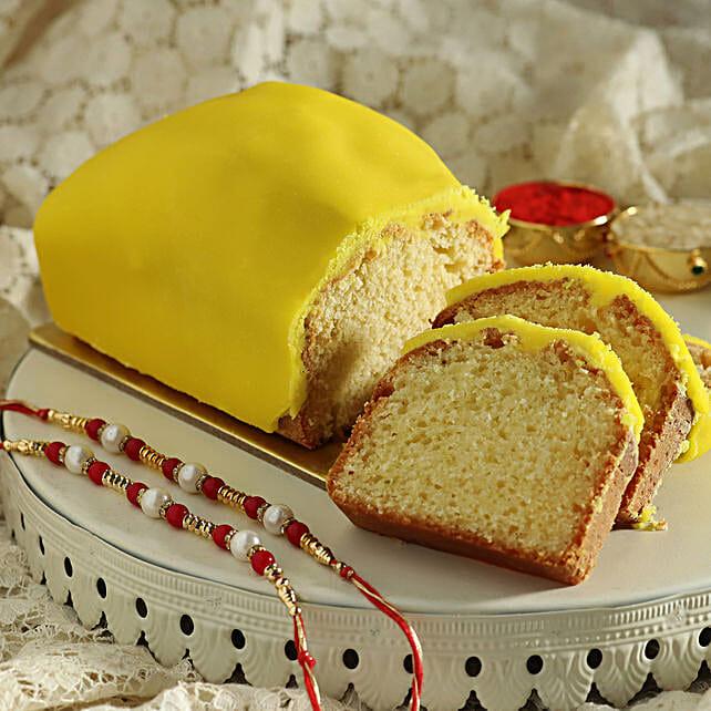 Pearl Rakhi Set & Lemon Tea Cake