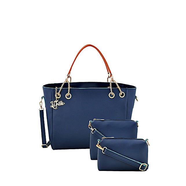 3set of blue handbag for her