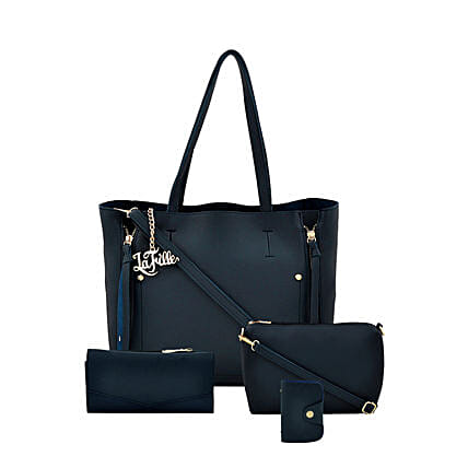 Online Fabulous Blue Hand Bag Set:Handbags and Wallets Gifts