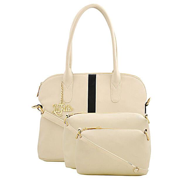 cream colour handbag set online:Buy Purse