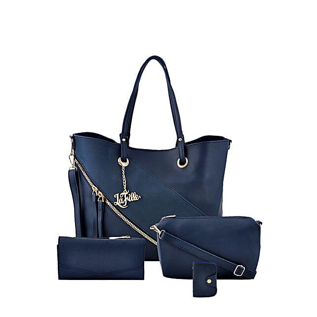 Online Blue Swanky Hand Bag Set