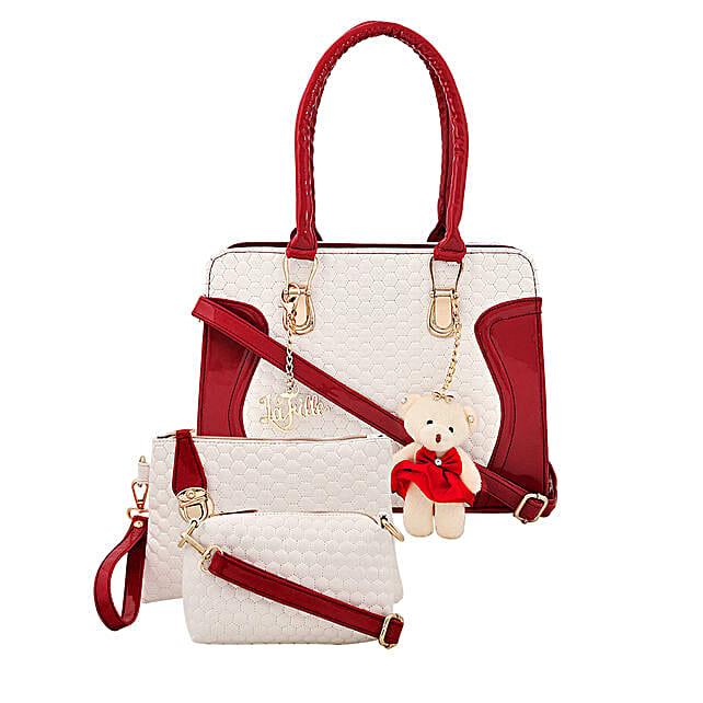 3 set of stylish multicolour handbag