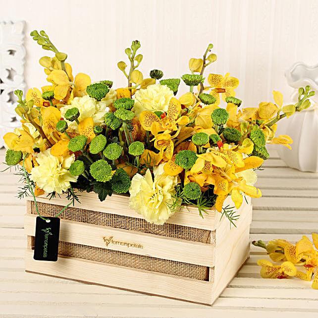 Online Yellow Flowers Basket