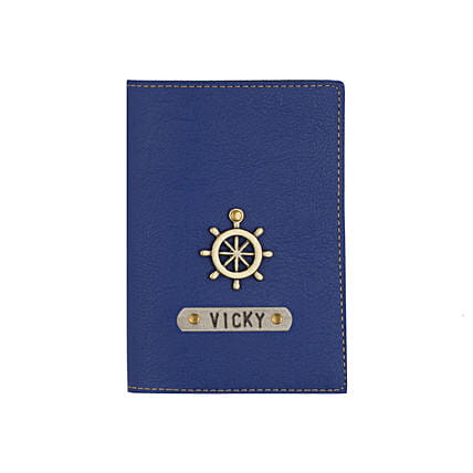 Navy Blue Passport Cover