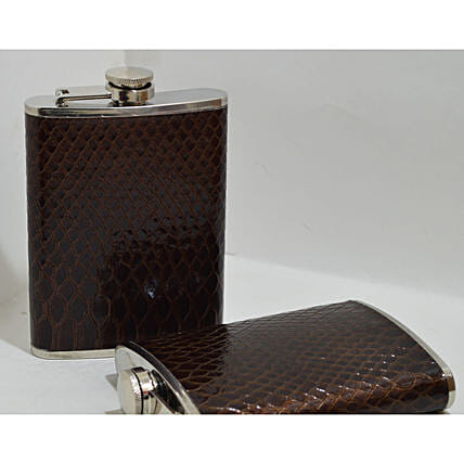 Leather Grip Hip Flask