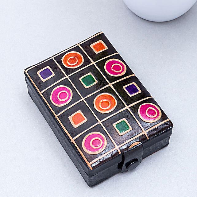 Hand Painted Jewellery Organiser Box Purple