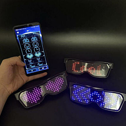 LED Sun Glasses With App:Birthday Party Accessories