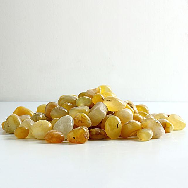 lemon stone pebbles for décor:Gardening Pebbles