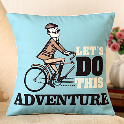 quotes text printed cushion