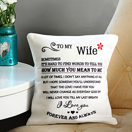 Letter To Wife Cushion