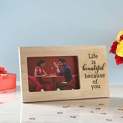 Printed Love Photo Frame:Personalised Photo Frames for Anniversary