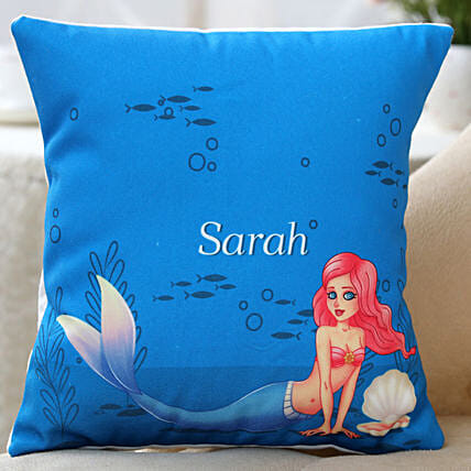 printed mermaid cushion:Cushions