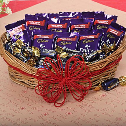 Cadbury Chocolate and Candy Basket chocolates choclates:Diwali Gift Hampers