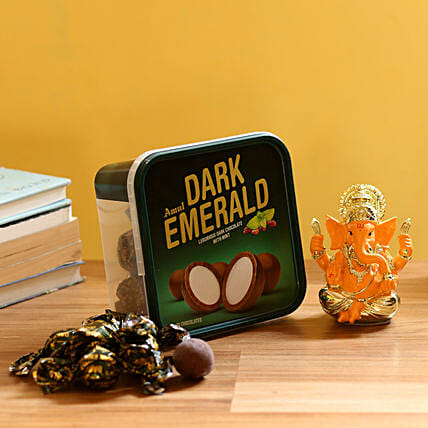 Ganesha Idol with Chocolate Box