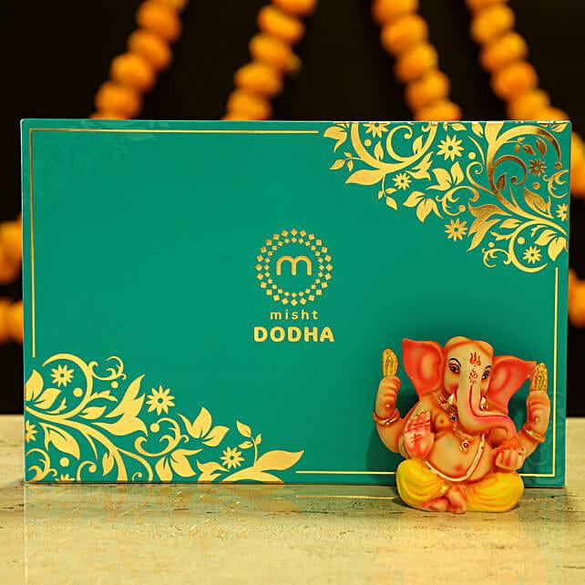 Online Ganesha Idol & Dodha Burfi