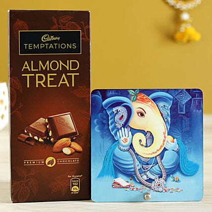 Lord Ganesha Table Top & Almond Treat