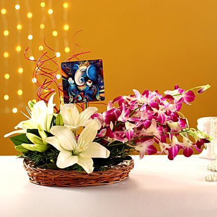 Online Lord Ganesha Table Top With Lily And