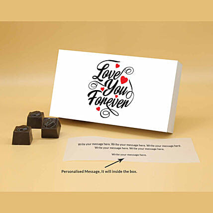 Online Love Butterscotch Personalised Chocolates