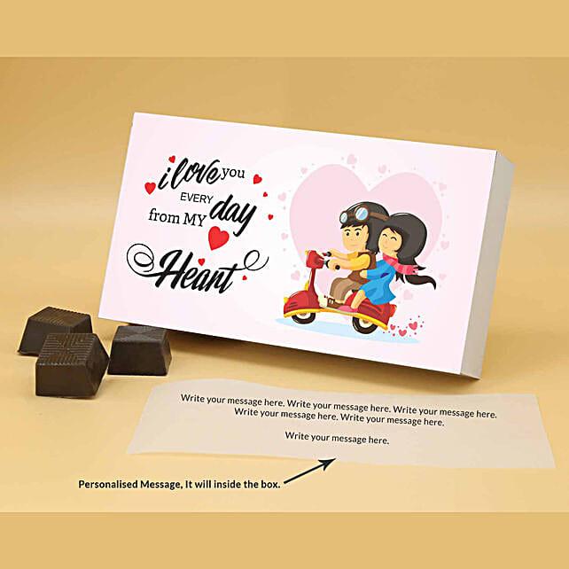 Online Love Everyday Personalised Chocolate Box