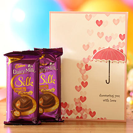 love message greeting with chocolate combo online