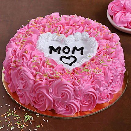Love U Mom Chocolate Cake:Cake For Mother's Day