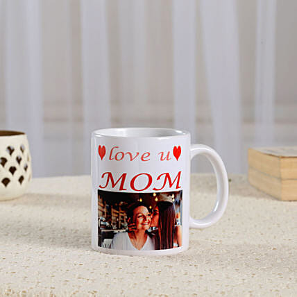 love you mom with photo printed coffee mug online