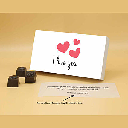 Online Love You Butterscotch Personalised Chocolates