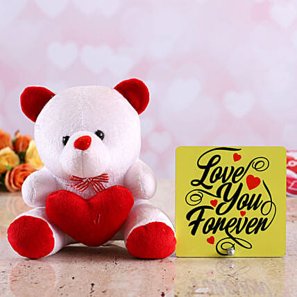 teddy with table top for valentine online