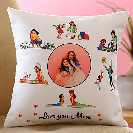 Love You Mom Personalised Cushion Hand Delivery