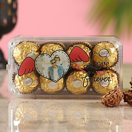 Love You Personalised Ferrero Rocher Box:Ferrero Chocolate
