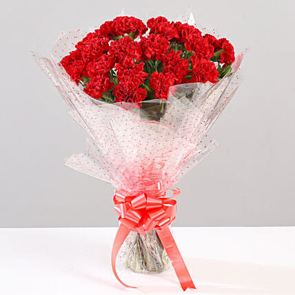 Online Red Carnation Bouquet:Flower Delivery in Almora
