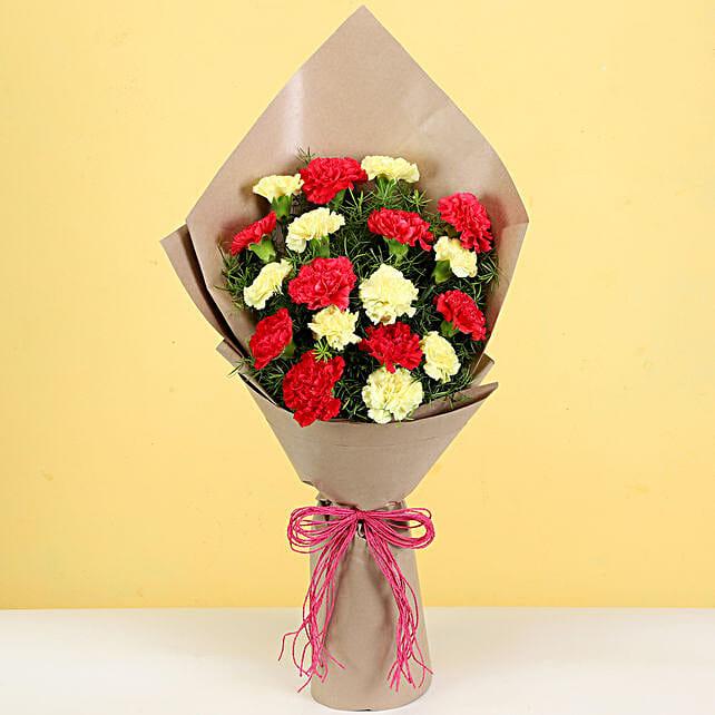 online carnation bouquet for boyfriend