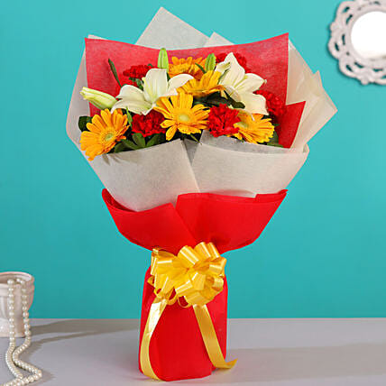 flower bouquet for congratulation:Flower Delivery in Purulia