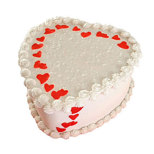 Lovely Heart Shape Cake 1kg Chocolate Eggless