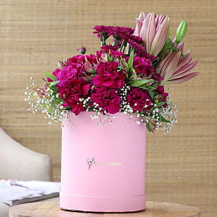 Lovely Mixed Flowers In FNP Signature Box:Flowers for Birthday
