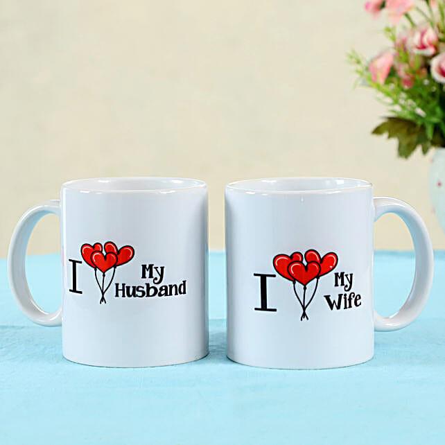 printed mug set for couple online:Valentines Day Mugs
