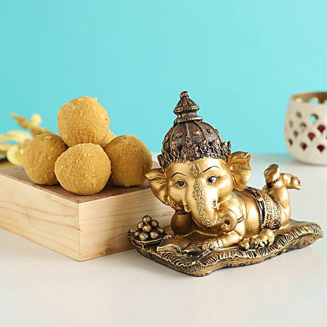 Lying Ganesha Idol & Besan Laddu:Send Diwali Gifts For Parents
