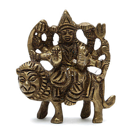 Brass Idol-Maa Durga:Send Spiritual Gifts